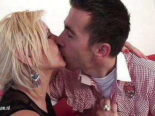 Slut sucking videos - Blonde mature slut sucking and fucking hard