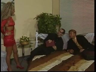 Vintage exotic Exotic milf pleases two men