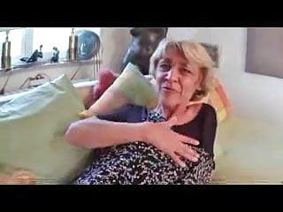 Black granny fucks Skinny granny in black stockings fucks
