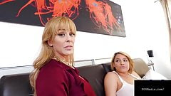Mom Cherie Deville & Step Daughter Alix Lovell Milk A Cock!
