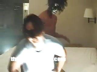 Black ghetto slut spreads her creampie Fucking ghetto slut in her husbands kiss mask