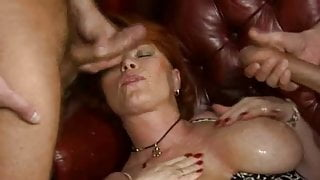 Kira Red - Two cocks in the office