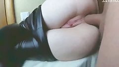 Two Cum in Her Beautiful Ass