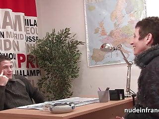 Gets shaved barbershop French mature cougar gets shaved and fucked hard