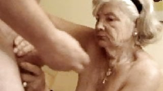 Very Old Woman Cum in Mouth