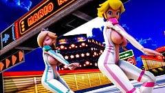 MMD R-18 Peach & Rosalina Mario 3D Hentai MV