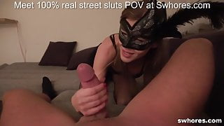 Street whore gets double money to fuck on camera in POV