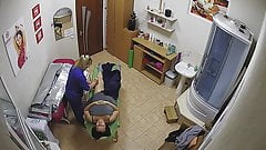 Spy cam in a beauty salon (with sound) 1