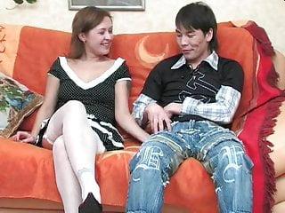 Asian boy cum - Russian girl mima ass fucks asian boy