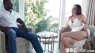 Hot Silvia Saige deepthroats BBC before reverse cowgirl