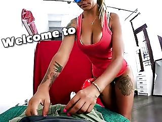 Big tit handjob tittyfuck Huge bubblebutt latina giving an oily handjob and tittyfuck