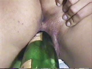 Yong cum eating girls Hairy yong latina with bottles and blowjob