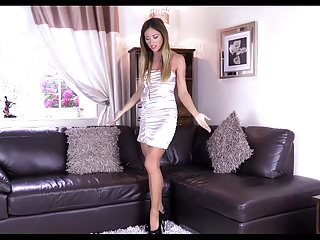 Pantyhose gold video Shiny dress pantyhose gold nails