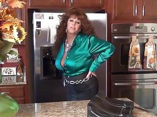 Blouse peeking xxx Samantha legs satin blouse