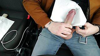 Austria big cock in Car