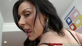 Teen and MILF take turns pleasing a thick hard dick