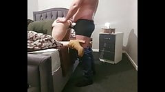 Step mom pulled off panties fucking step son in isolation