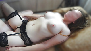 Brunette Teen with Big Tits has Afternoon Fuck & Real Orgasm