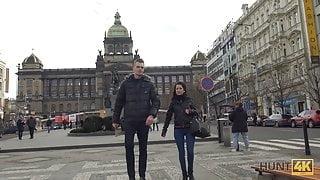 HUNT4K. Hunter meets a nice girl in Prague