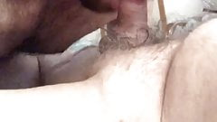Old man filling straight boys mouth with cum