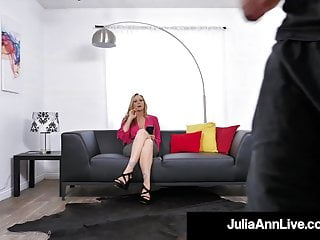 What is a throbbing cock Cock craving cougar julia ann face fucks a throbbing dick