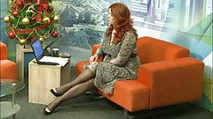 Lady with long legs at TV show 9