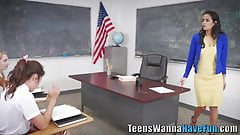 Lesbian teens and teacher