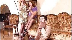 Russian Irene A 19 - Pantyhose Threesome