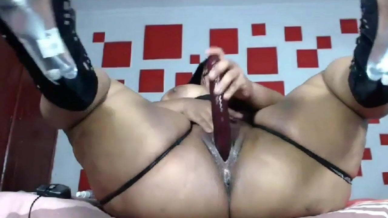 Ebony Bbw Big Ass Riding Dildo