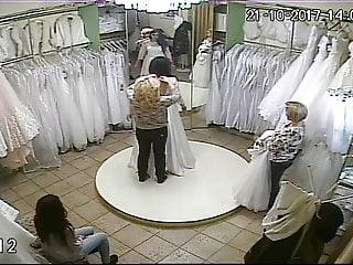 Ivory vintage wedding dresses Spy camera in the salon of wedding dresses 5 sorry no sound