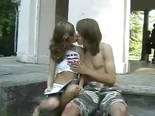 Amateur teen couple fucks Teen couple fucks outdoor