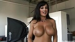 Lisa ANN behind the scene