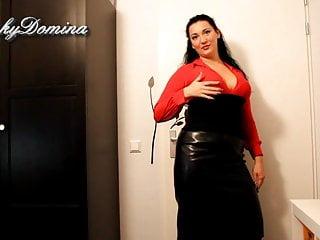 Flv asian leather skirt Kinkydomina in leather skirt - sph