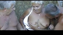 Threesome couple with two old men-otmi