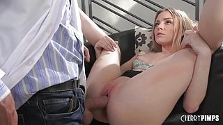 Petite Young Blonde Spinner Has The Tightest Pussy Around
