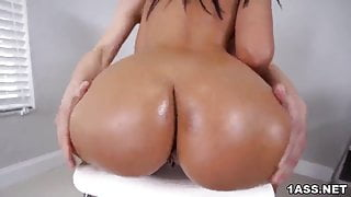 Exotic Alina Belle rides a hard white cock