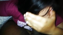 Blowjob With Cum in mouth - Desi Indian uncut Cock