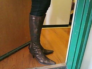 Boot redhead snake Gold donald pliner snake and leather boots in leggings