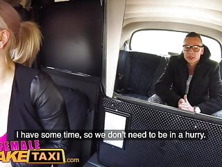 Shemale on busty female Female fake taxi bored busty driver swaps fare for hot taxi