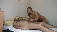 Hot wife and her fat and ugly boss on homemade