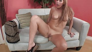 Curvy blonde can't wait to go home and play solo with a toy