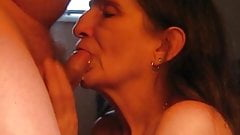 deep throating and a hot mouth and throat full of cum