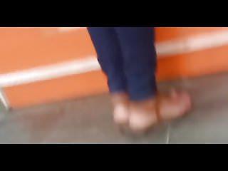 Young arab teen voyeur - Beautiful arab teen feet spying