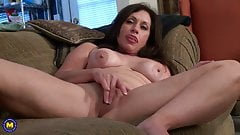 Mature wife feeding her lovely pussy