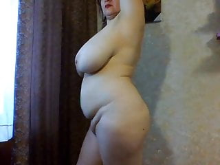 Large sex woman Big russian woman shows her large boobs on webcam