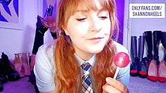 Tasting My Pussy and Ass with Lollipops - Shannon Heels