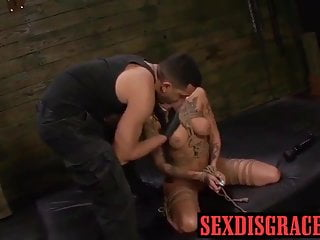 Irritation after vibrator Ably is rough fucked with a vibrator after sloppy deepthroat