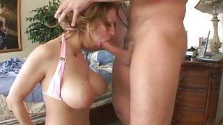 Busty brunette slut fucks like a pro