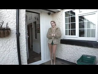 Repeatedly fucked - Georgie flashes repeatedly in front of her house