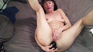 Black Ass Plug to Orgasm
